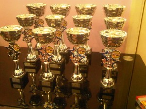 HDA 2010 Trophies for 1st, 2nd & 3rd in 1/10th, 1/8th, 1/5th & Truggies